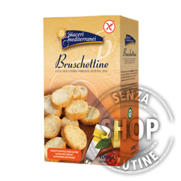 Bruschettine Mediterranee Piaceri Mediterranei senza glutine