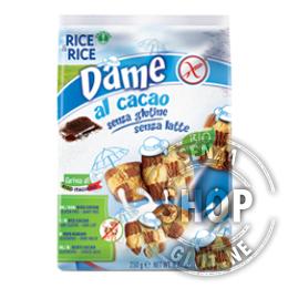 Biscotti Dame al Cacao Rice&Rice Probios senza glutine