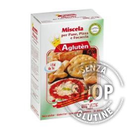 Miscela per pane, pizza e focaccia Aglutèn senza glutine