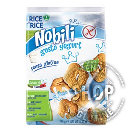 Biscotti Nobili allo Yogurt Rice&Rice Probios senza glutine