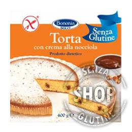 Torta con Crema alla Nocciola Bononia senza glutine